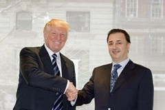 Donald Trump with Lev Leview (right) - purported owner of purported shell company for Manhattan real estate, known associate of Vladimir Putin