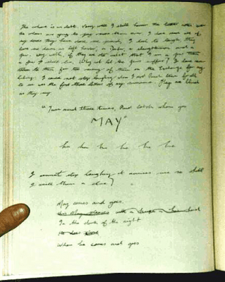 A page from the James Maybrick diary