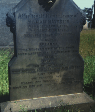 Early photo of James Maybrick grave and headstone
