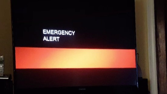 """TV broadcasts in California interrupted with apocalyptic warning """"violent times will come"""""""
