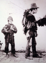 Master chimney sweep and child chimney sweep