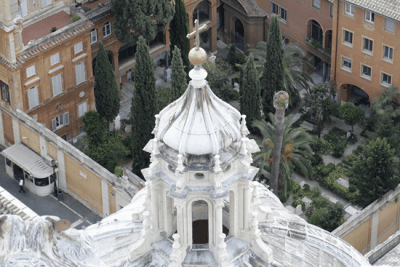 Pontifical Teutonic cemetery inside the Vatican
