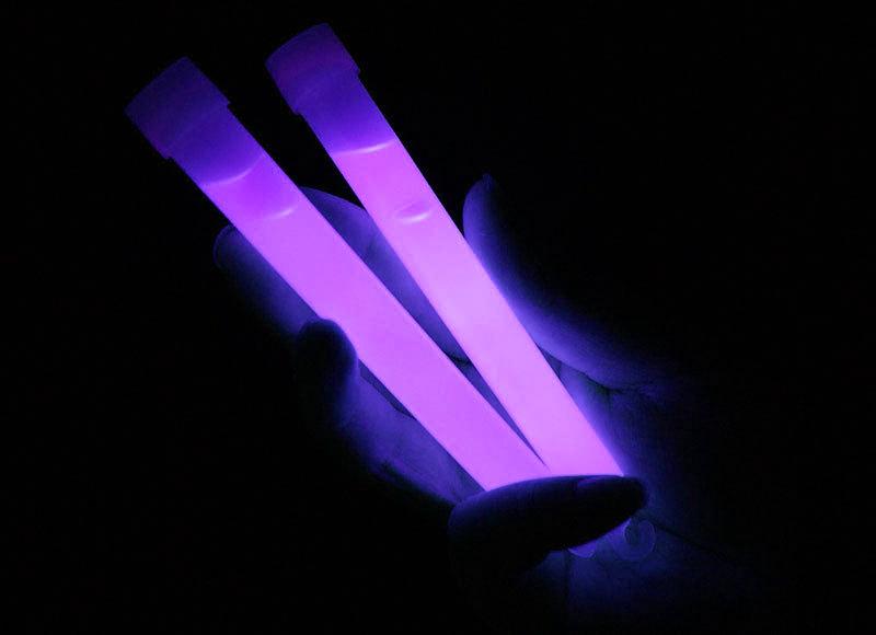 "6"" Glow Sticks with Lanyard - Purple"