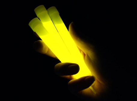 "6"" Glow Sticks with Lanyard - Yellow"