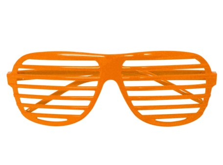 Orange Shutter Shades