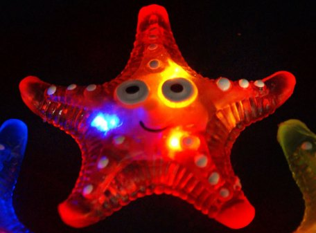 Starfish Jelly Necklace Pendant - Red