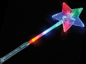 Giant Flashing Star Wand