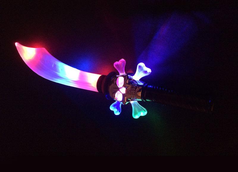 Light up Chrome Pirate Sword