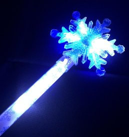 Giant Snowflake Wand - Blue & White LEDs