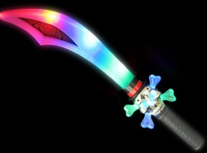 Light up Chrome Pirate Sword