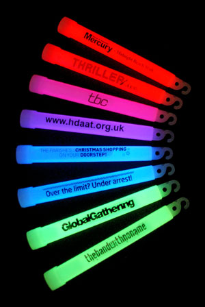 Promotional Branding On Glow Sticks
