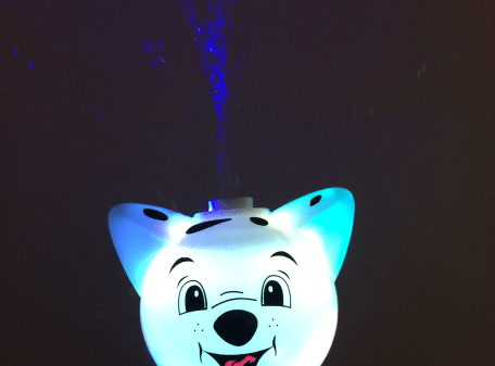 Flashing-Bubble-Stick-Wand-White-Dog-LIT-UP