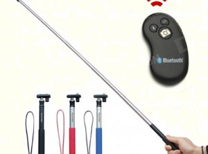 Selfie Pole with Bluetooth Remote