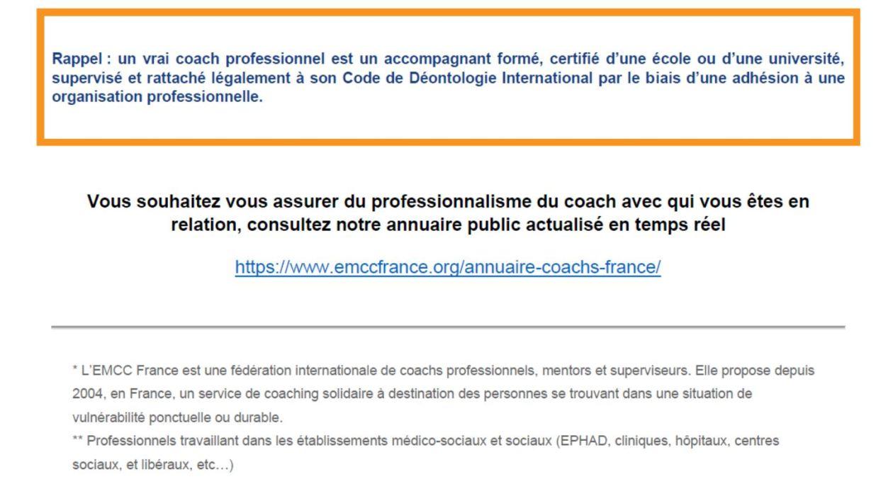 bénéficier individuellement de 4 séances de coaching gratuites