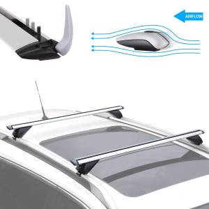 "XCAR 53"" Aluminum Cross Bars Roof Rack Set Crossbars Cargo Carrier"