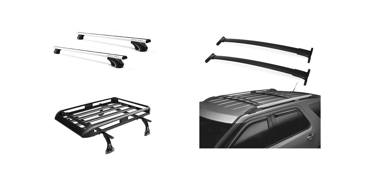 "53/"" Aluminum Roof Top Rail Rack Cross Bars Cargo Carrier Car Top Adjust TO"