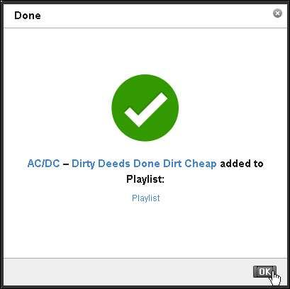Einen Song zu seiner Last.fm-Playlisthinzufügen - Klick 4