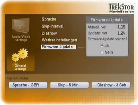 TrekStor MovieStation Firmware-Update 1.24