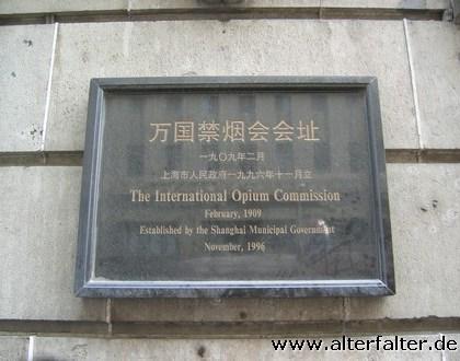 Das Opium-Komitee - hatte wohl leider gerade geschlossen...
