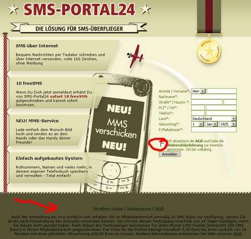 Abzocke SMS-PORTAL24