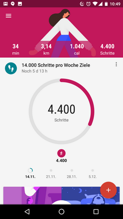 Google Fit - Fitness-Tracking