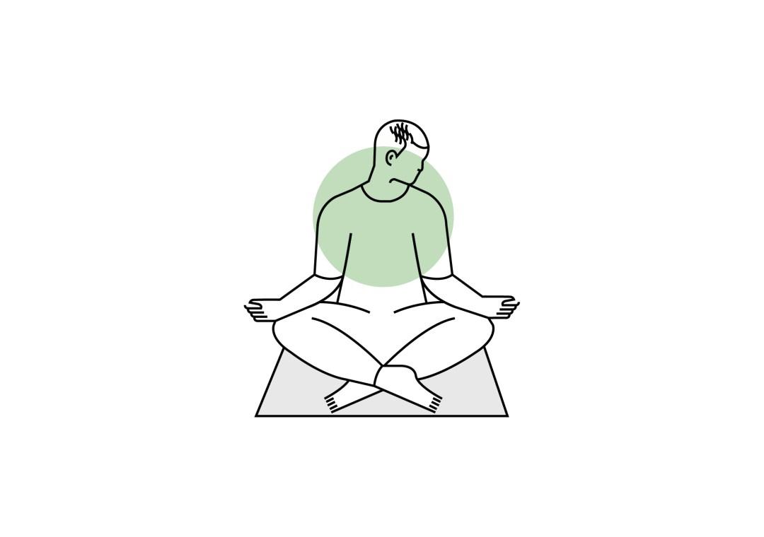 Découverte de la méditation en entreprise - illustration position de méditation