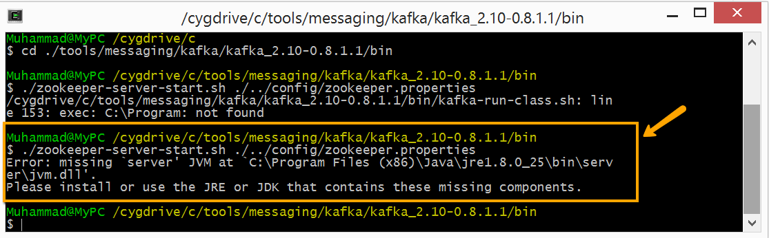 Running Kafka on Windows – Alternate Stack