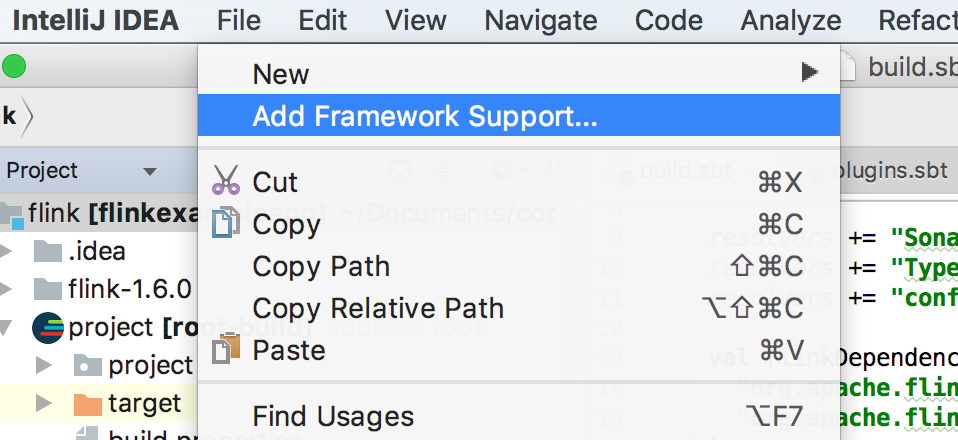 IntelliJ – Add New Scala Class Option – Not Available – Alternate Stack