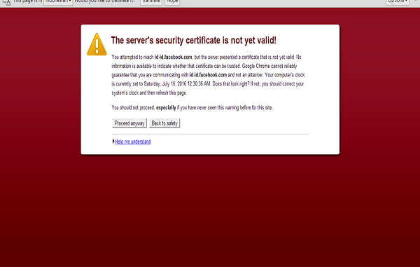 ssl error pada fairfox & certificate ssl error