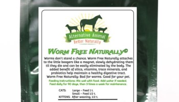 Worm Free Naturally Natural Cat Wormer • Alternative Animal