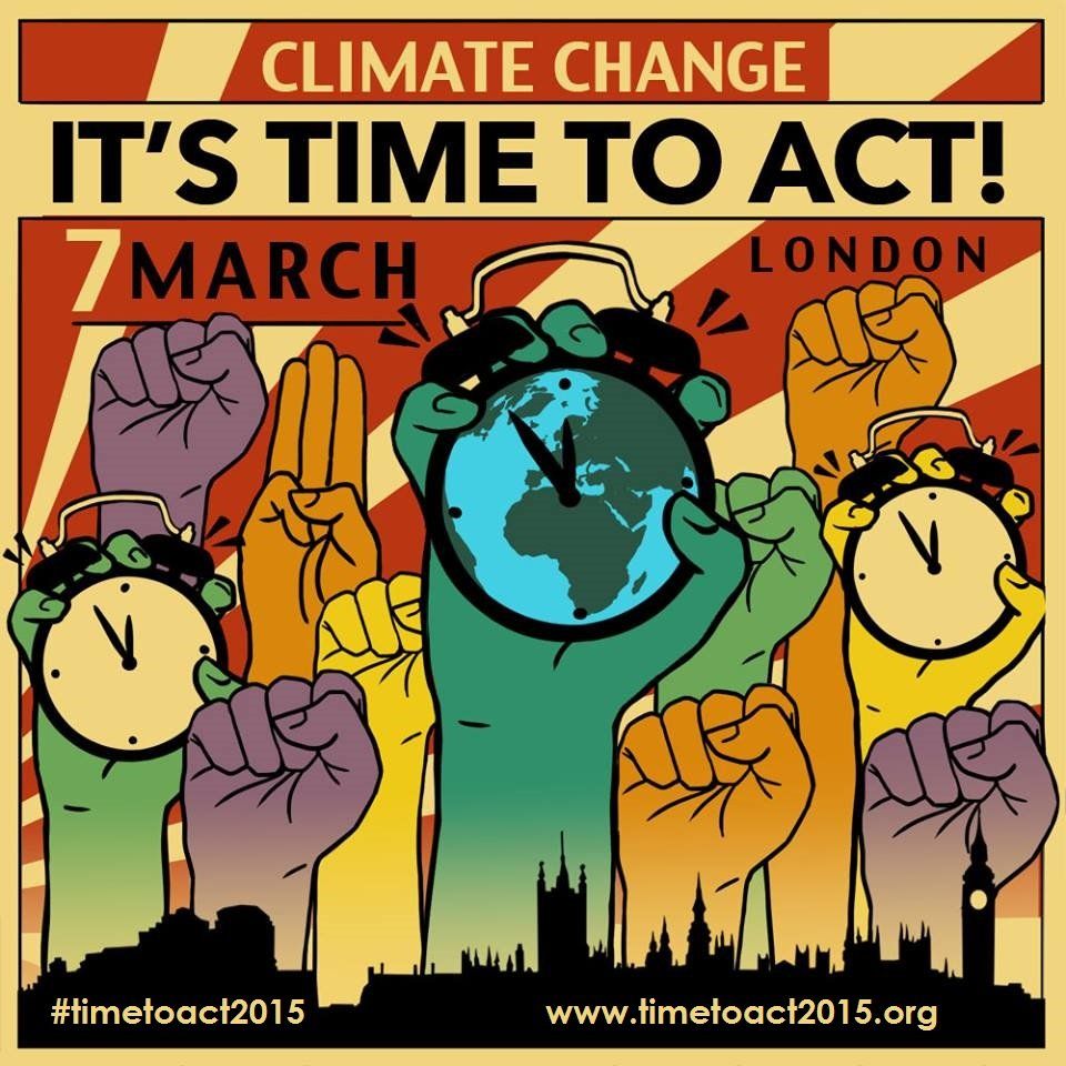 Time to Act! on climate change: National Demonstration - coaches from Bristol