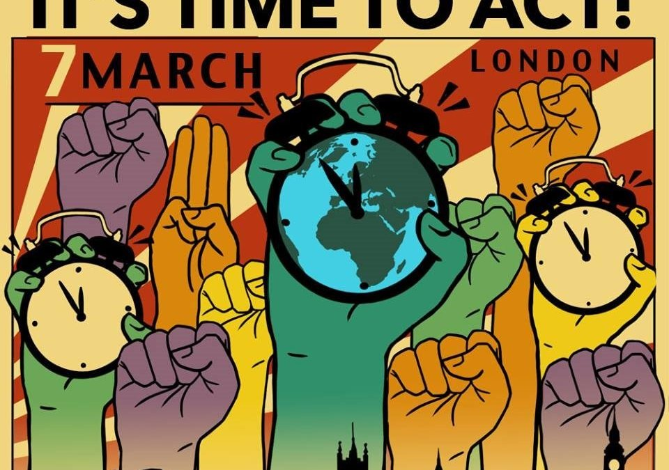 Time to Act! on climate change: National Demonstration – coaches from Bristol