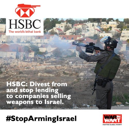 HSBC – STOP ARMING ISRAEL
