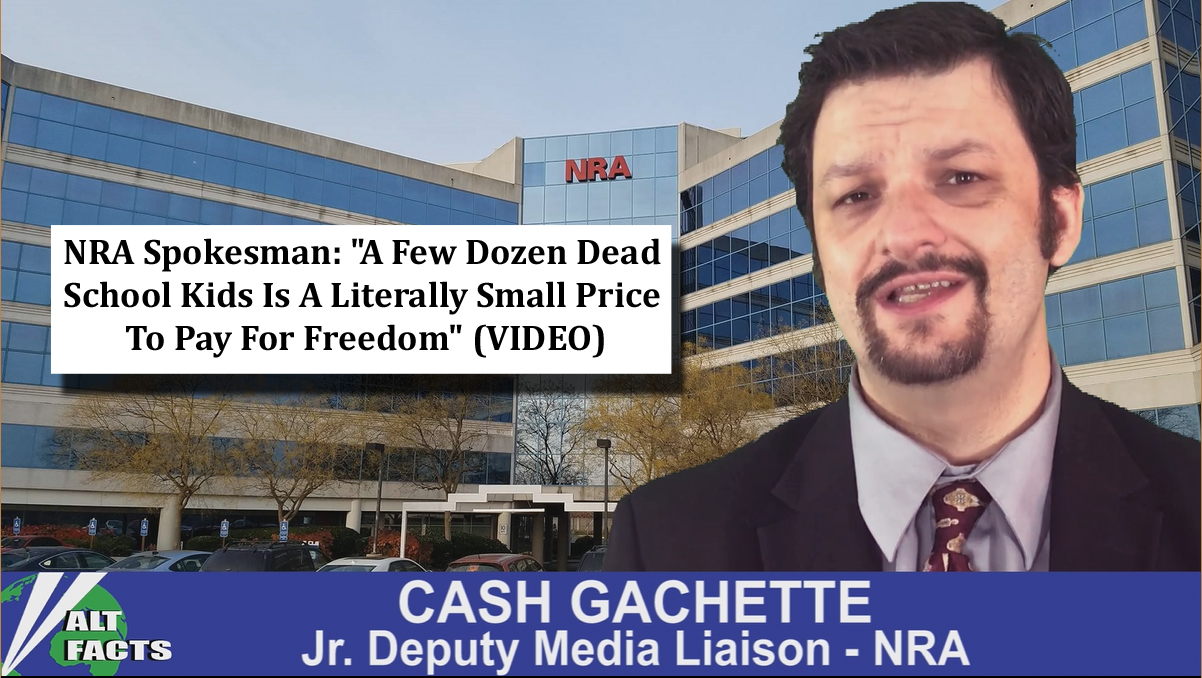"NRA Spokesman: ""A Few Dozen Dead School Kids Is A Literally Small Price To Pay For Freedom"" (VIDEO)"
