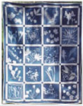Blueprints on fabric cloth