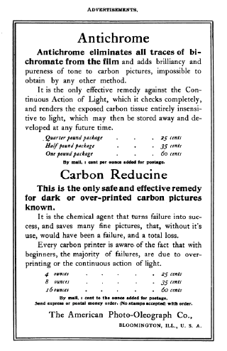 Carbon print advertisment