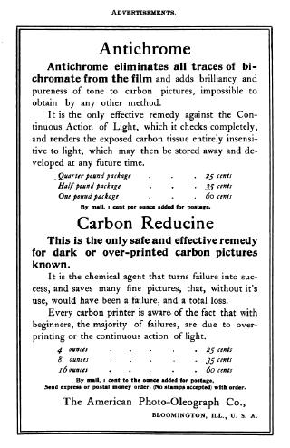 Carbon print advertisment