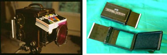 Figure 5. Graflex Camera and dark slide for modern Lippmann photography.