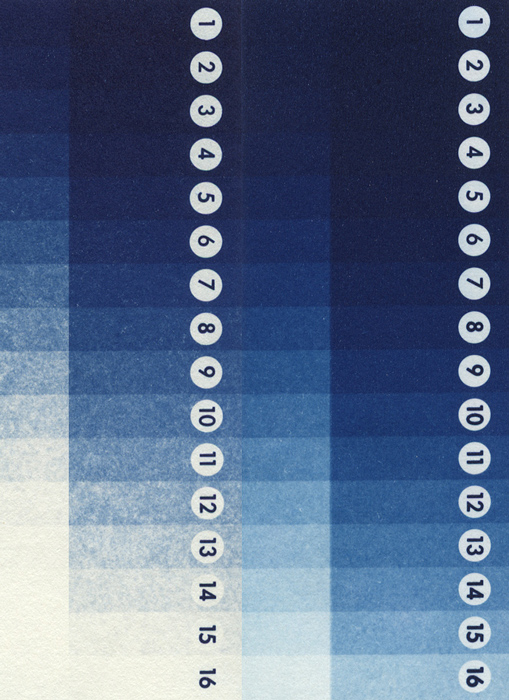 Paper wedge cyanotype