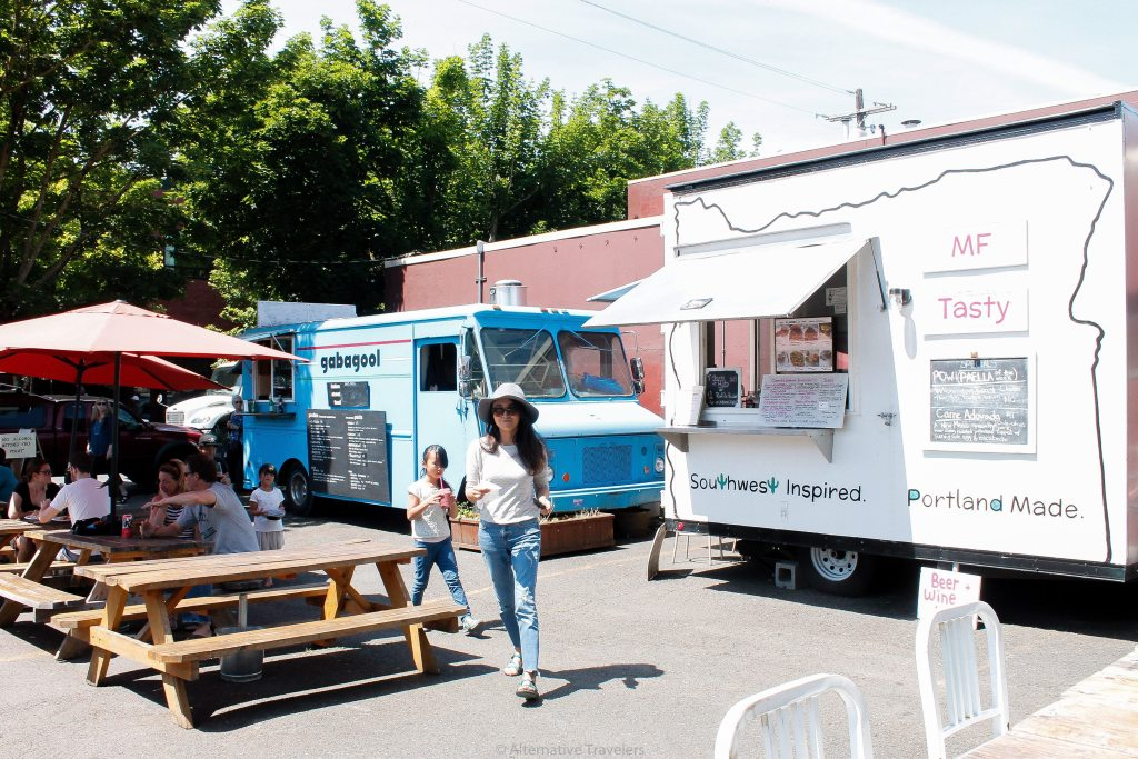 food trucks among vegan food trucks in Portland.