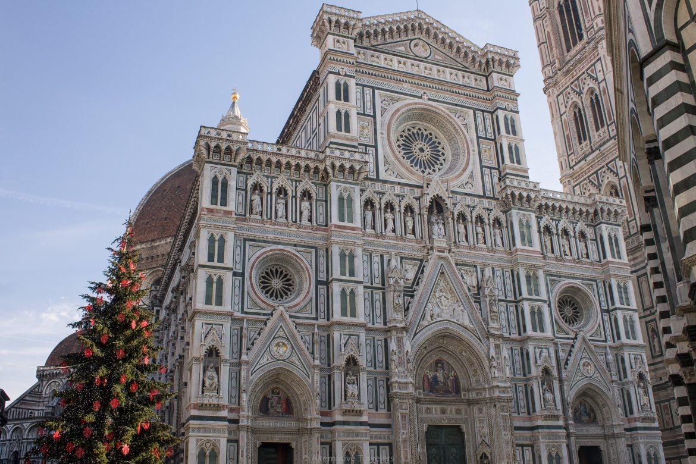 Duomo facade in Florence Italy