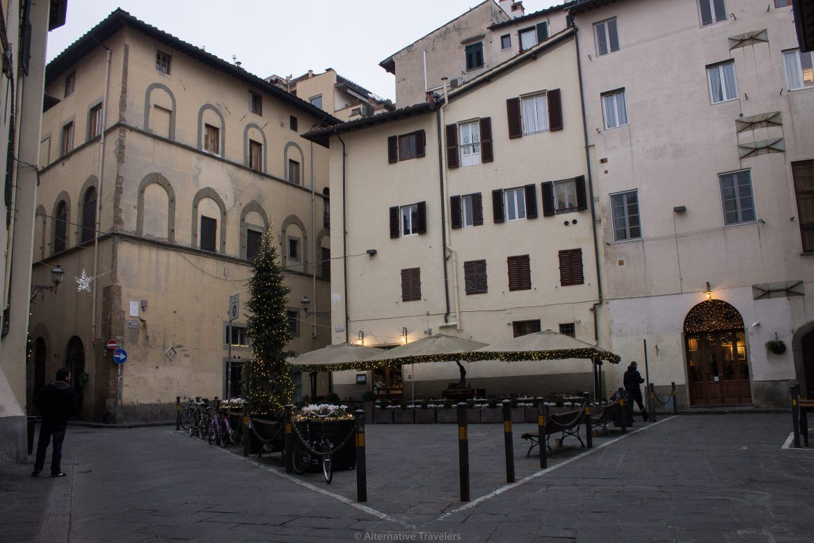 plaza in Florence Italy