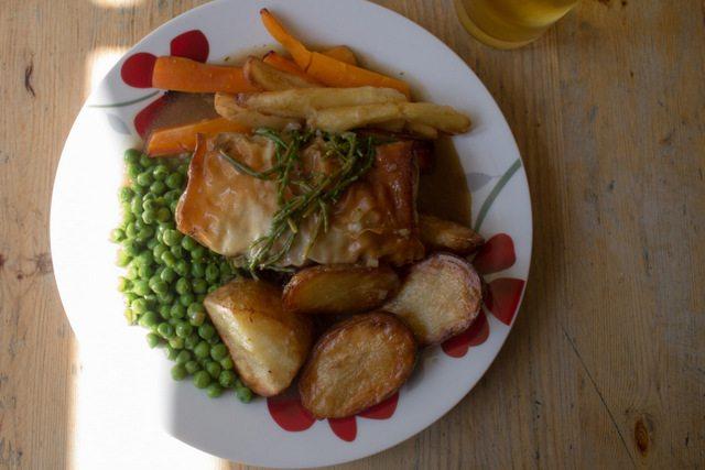 Vegan roast in Brighton, UK