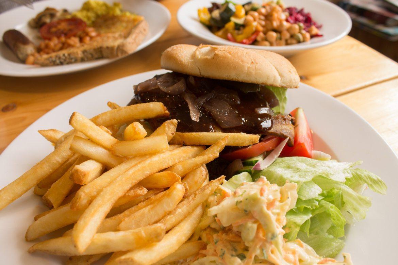 vegan burgers in Brighton at Green Kitchen Cafe, a vegan cafe in Brighton