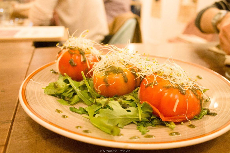 Caprese style salad at La Tia Carlota | AlternativeTravelers.com
