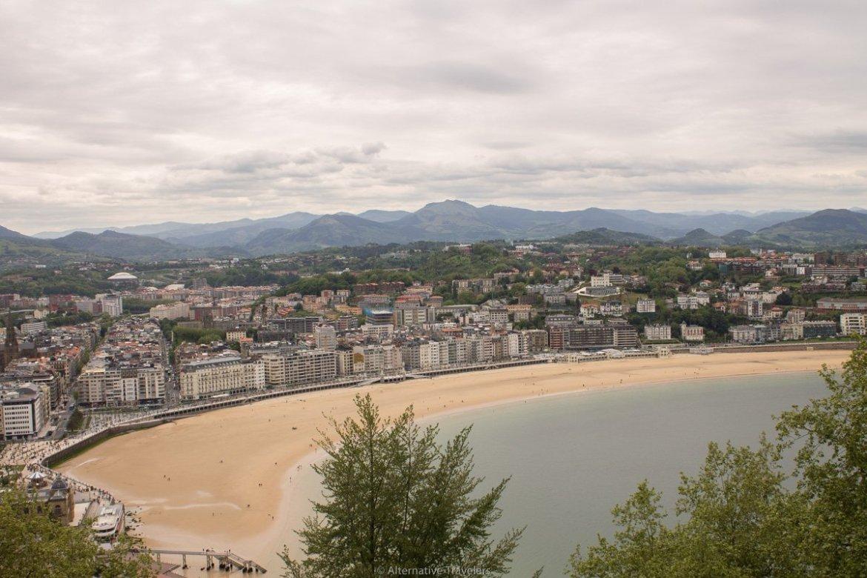 San Sebastian bay - view from mount urgull