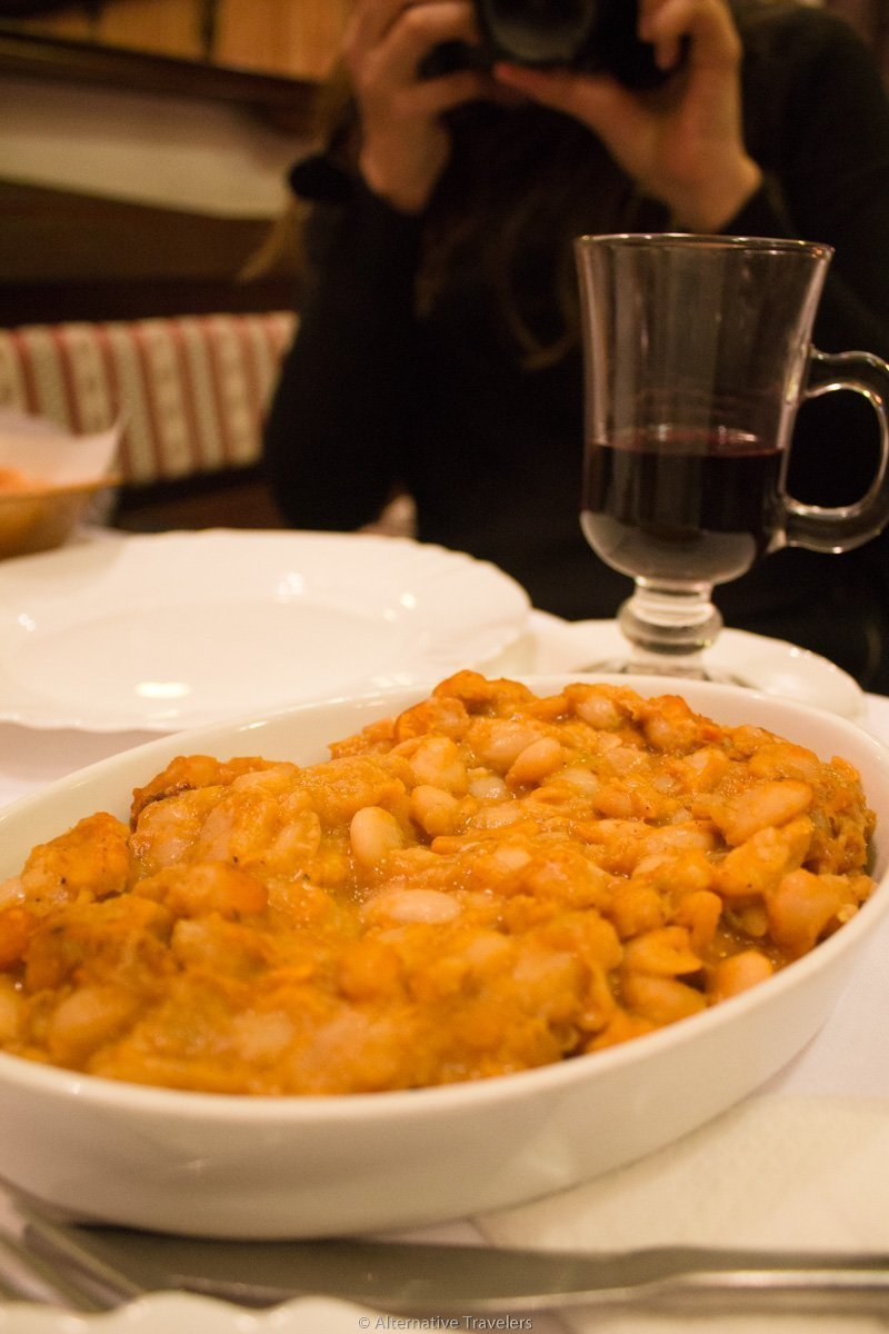 traditional vegan serbian meal