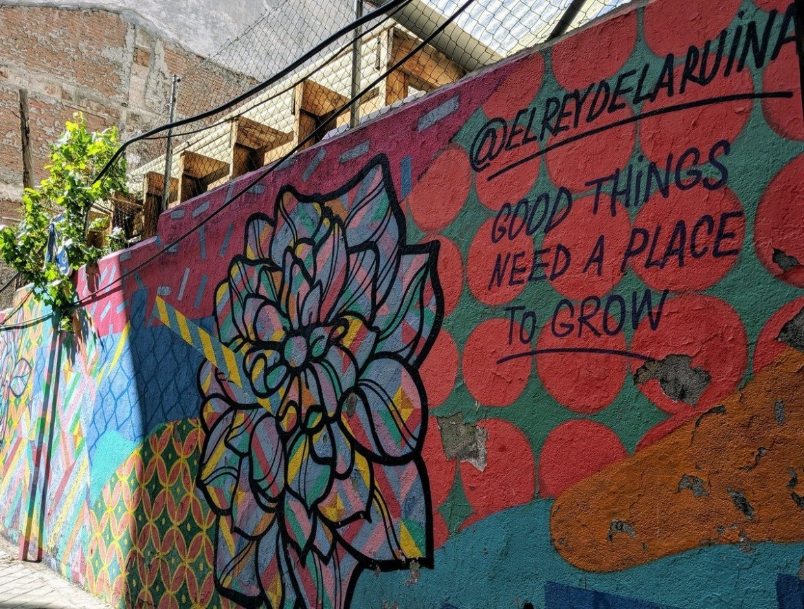 Good Things Need a Place To Grow - Street Art in Madrid