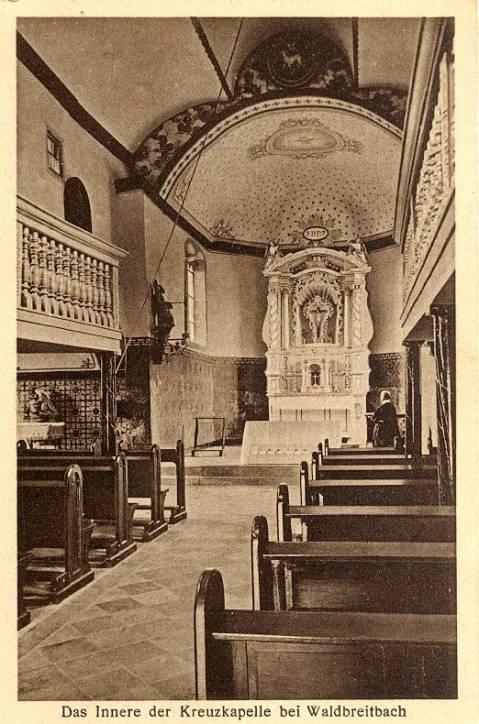 Das Innere der Kreuzkapelle