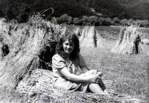Kurze Pause bei der Ernte in der Au - ca. Ende 1930er Jahre Waltrudis Nassen